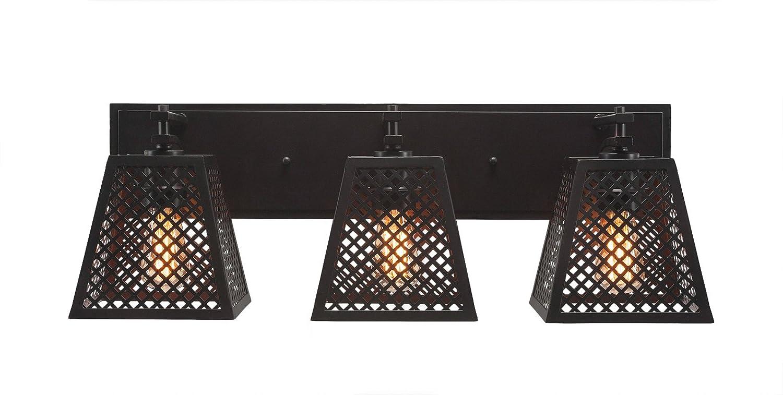Toltec Lighting Corbello 2 Light Bath Bar with 7 Espresso Metal Shades