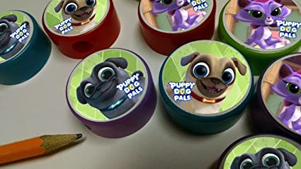 Amazon Com 12 Puppy Dog Pals Pencil Sharpeners For Birthday Party