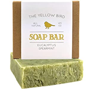 Eucalyptus Spearmint Soap Bar - Artisan Made in USA Soap - Natural and Organic Ingredients - Moisturizing Wash for Face, Body, and Hands. Vegan and Paraben Free