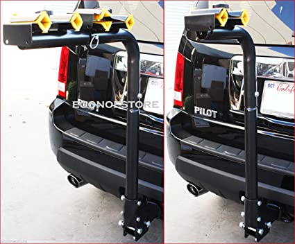 f245dce3c57 Image Unavailable. Image not available for. Color  2 quot  Hitch Mount  Bicycle Rack Carrier Rear Mounted 4 Bike Rack Carrier Swing Down