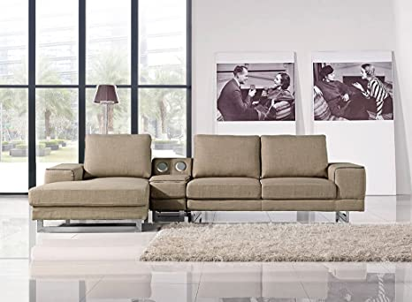 Remarkable Amazon Com At Home Usa Adele Beige Sectional Left Ncnpc Chair Design For Home Ncnpcorg