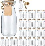 Brajttt 30Pcs Glass Favor Jar with Cork Lids,Pudding Jars with Cork Stopper,Glass Jars with Ice Cream,Glass Yogurt…