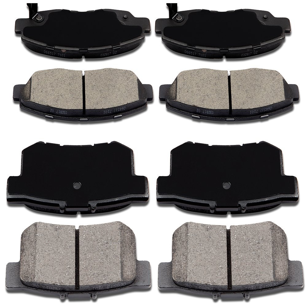 ECCPP Brake Pads Discs Kits, 8pcs Front Rear Ceramic Disc Brakes PadsSet for 1998 1999 2000 2001 2002 Honda Accord,2002 2003 2006 2007 2010 2011 Honda Civic 817269-5211-1158176361