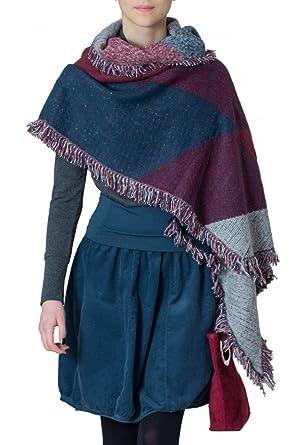 CASPAR SC419 Écharpe longue pour femme - châle XXL - cape avec franges et  dentelle - b7c2e6cf02b