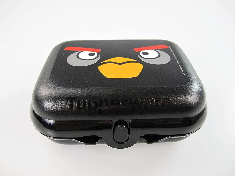 TUPPERWARE Angry Birds Caja Cofre Sandwich negro 9743