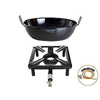 Gas-Brenner schwarz kleiner Burner Camping Balkon Picknick 1-flammig ✔ eckig ✔ Grillen mit Gas