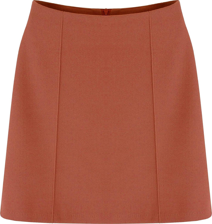 Etgee 8273 Women's Basic H-line Woolen Mini Skirt
