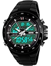 Kid's Digital Sports Watch, Childrens Outdoor Analog Quartz Watches 50M Waterproof LED with Luminous Stopwatch Multifunctional Wristwatches for Boys