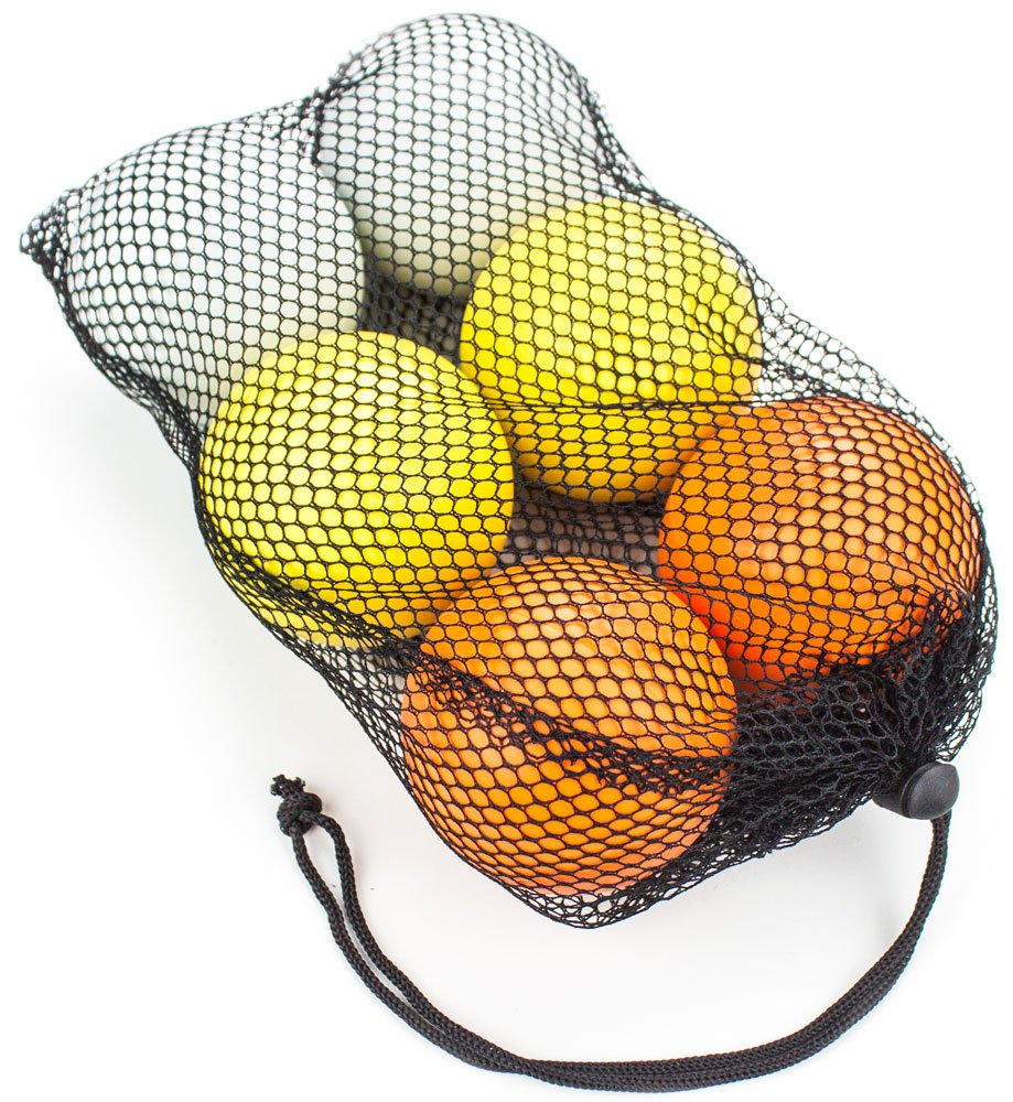 Set of 6 Regulation Size Lacrosse Balls in Mesh Bag - Choose Style! by Brybelly (Image #2)