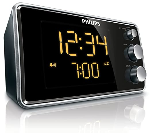 49 opinioni per Philips AJ3551/12 Radiosveglia con Sintonizzazione Digitale, Nero