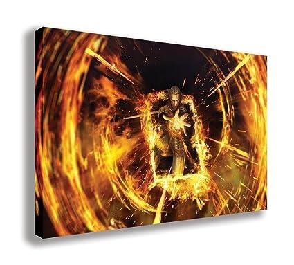 Geralt Gwent The Witcher juego de cartas lienzo pared arte ...