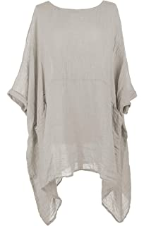 Ladies Batwing Italian Sleeve Women Lagenlook Plain Texture Short D2HW9YeEIb