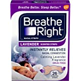 Breathe Right Nasal Strips, Lavender, Nasal Congestion Relief due to Colds & Allergies, Reduces Nasal Snoring caused by Nasal
