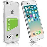 iphone7ケース カード収納 クリア iphone8ケースtpu ソフト 薄型 透明 超軽量 スリム 柔らかい Fogeek (iPhone7/8)