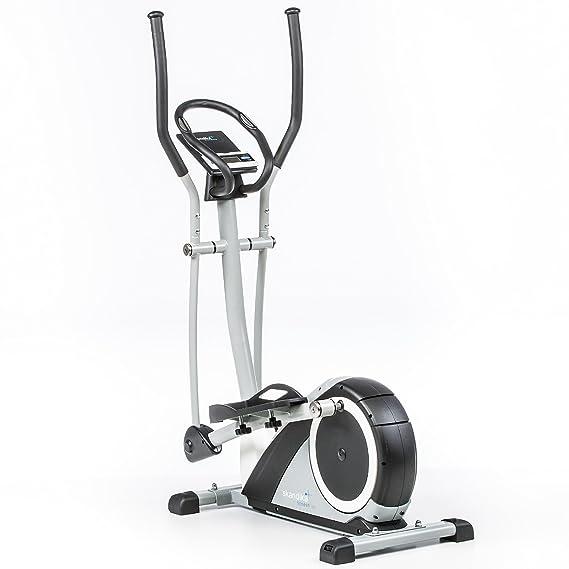 skandika Crosstrainer Ares, ergómetro, Ellipse Trainer con Bluetooth, 24 Niveles Obstrucción Ajuste y Ordenador multifunción con Tiempo, Consumo de calorías ...