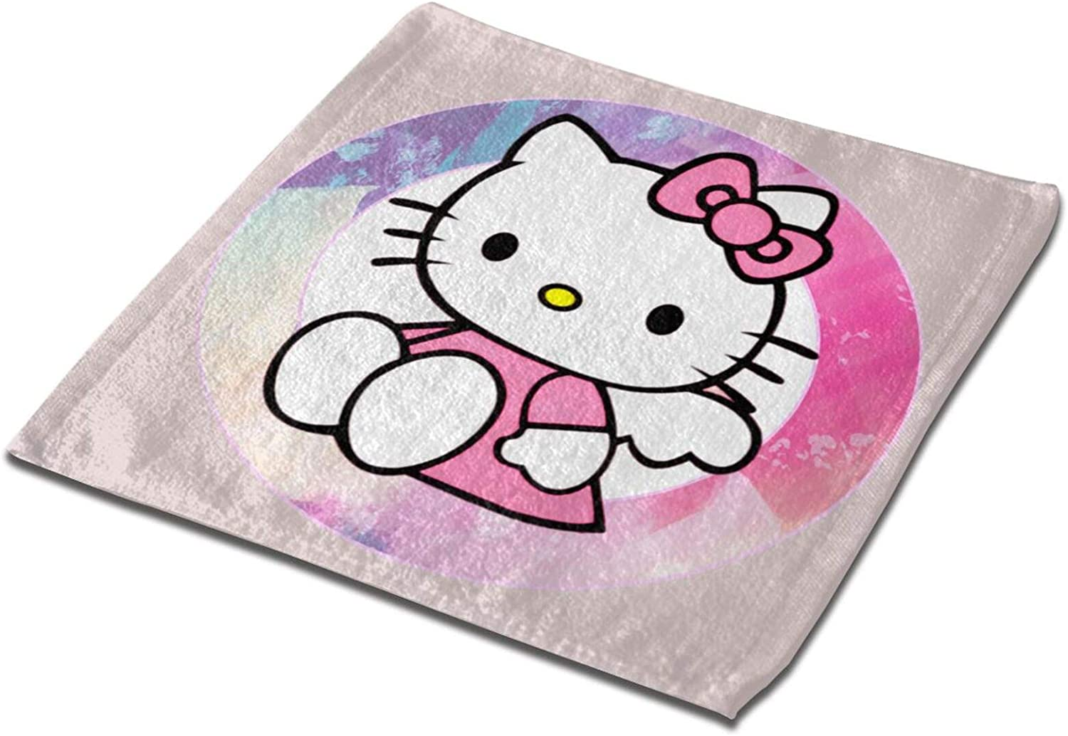Hello-Kitty Square Towel Microfiber Towel Small Towels Kitchen Towels Square Towel for Bathroom Soft & Absorbent Towels 13X13 Inch