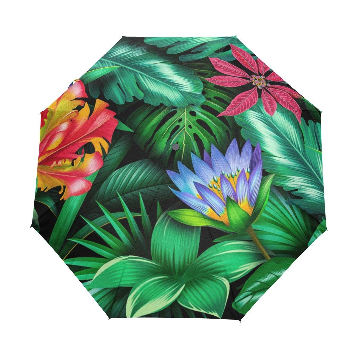 Senya Saobao防風と防雨トラベル傘自動開いて閉じFolding花植物ポータブル折りたたみ式太陽雨傘 B07FKCGXPN