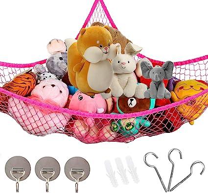 Toy Hammock Net Organize Stuffed Animals In//Outdoor Mesh Hammock for Kids Toys