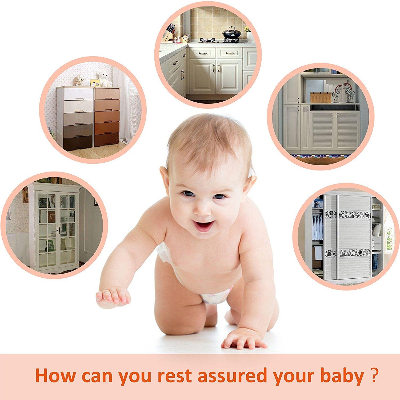 Baby Proofing Cabinet Locks Child Safety, Drawers, Fridge, Toilet, 12 Pack Kspowwin
