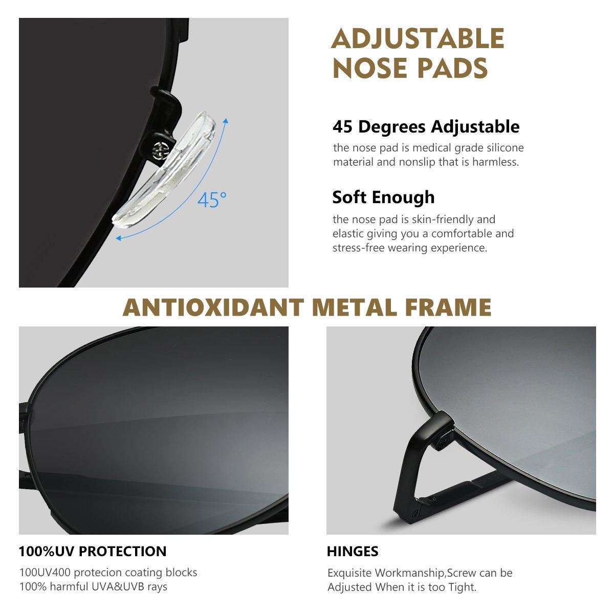 Duduma Lente Antirreflejante Completo UV400 Gafas de Sol con Diseño de Moda Retro Para Hombre y Para Mujer.