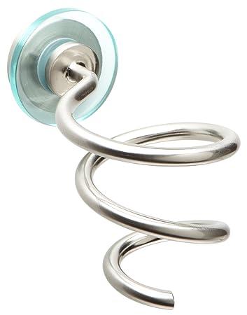 Amazon Com Taymor Spiral Hair Dryer Holder Satin Nickel Home
