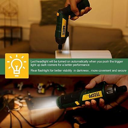 Amazon.com: Destornillador eléctrico inalámbrico recargable ...