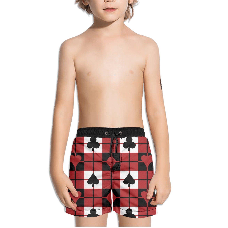 FullBo Poker Playing Card Little Boys Short Swim Trunks Quick Dry Beach Shorts