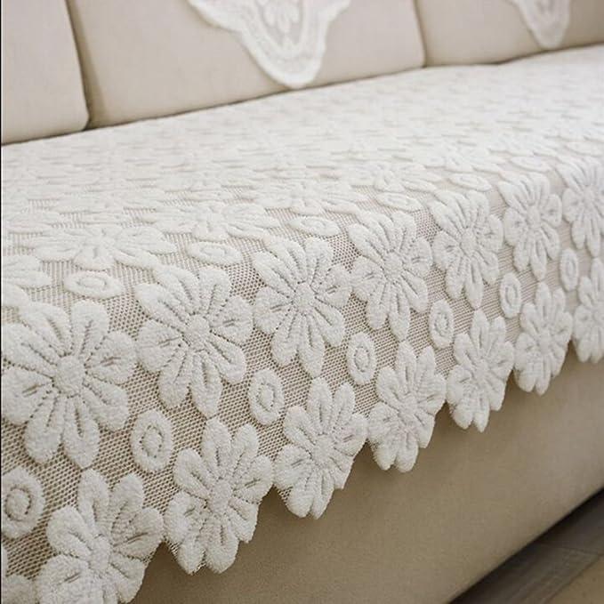 TY&WJ Funda para sofá Impresión de encaje Cubiertas del sofá ...