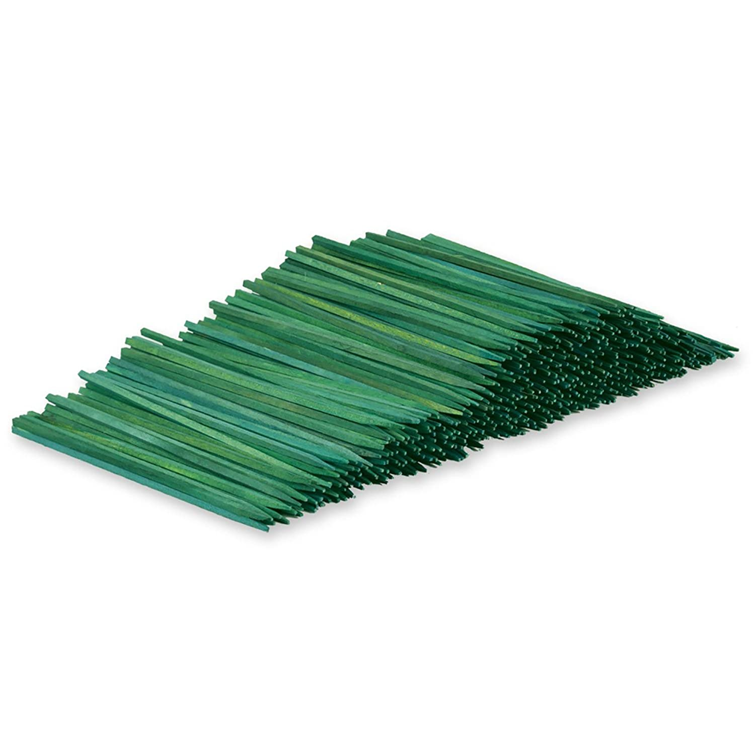 Wooden Floral Plant Support Craft Picks Green Wood Stakes 100 Count w/ Flower Crafting eGuide (8 Inch)