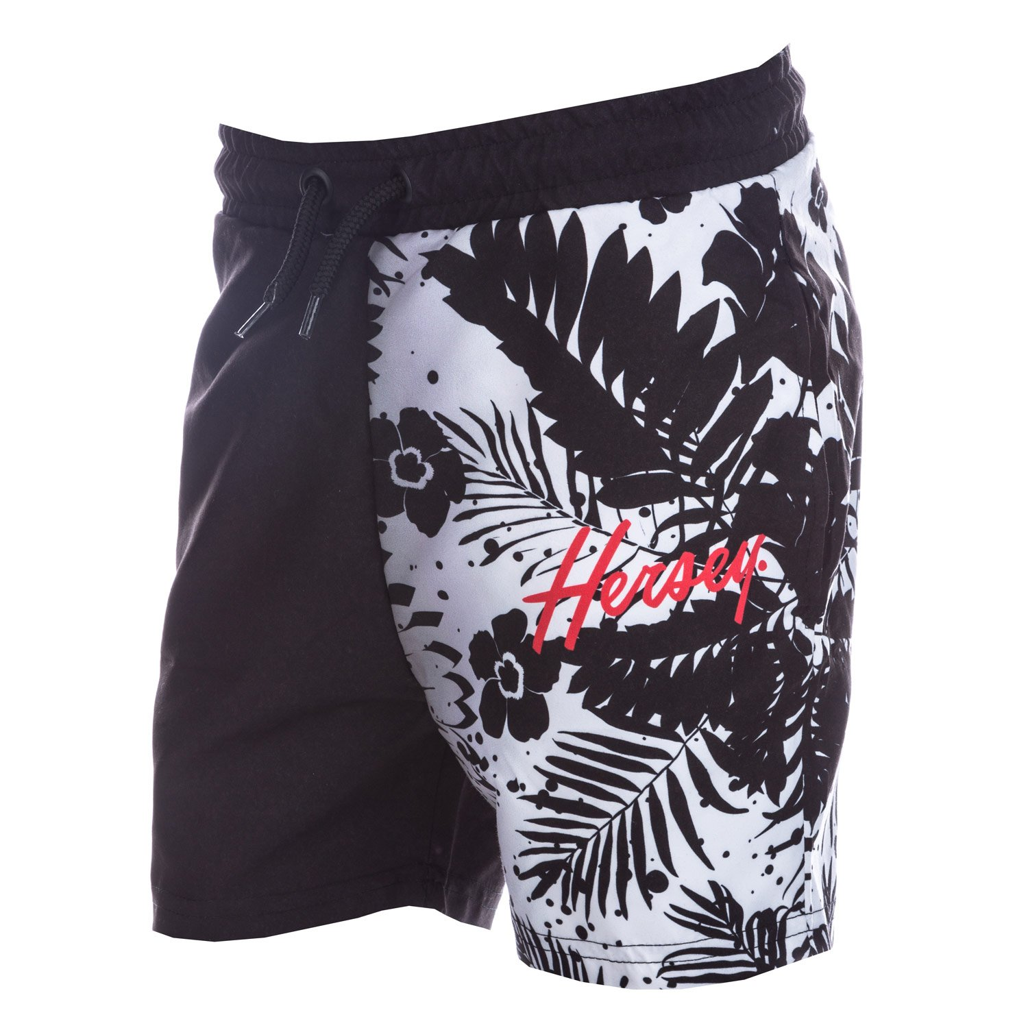 Beck & Hersey Junior Boys Rocco Sub Shorts in Black-White-Ribbed Waistband-Ext Beck and Hersey