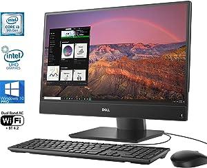 "Dell OptiPlex 5270 All-in-One Desktop, 21.5"" FHD Display, Intel Core 9th Gen i3-9100 Upto 4.2GHz, 8GB RAM, 512GB NVMe SSD + 500GB HDD, DisplayPort, HDMI, SD-Card, USB Type-C - Windows 10 Pro"