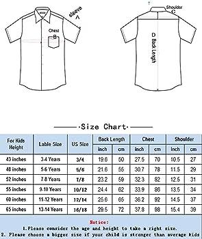 Spring/&Gege Boys Short Sleeve Uniform Oxford Dress Shirt Solid