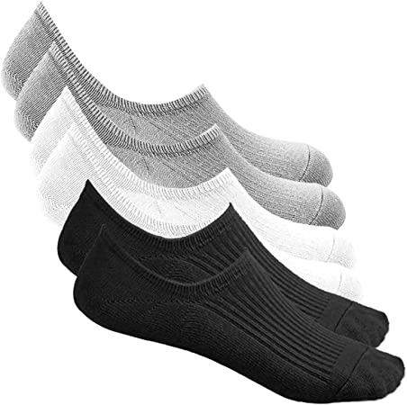6 Pairs Men Ankle Invisible No Show Nonslip Loafer Boat Liner Cotton Socks