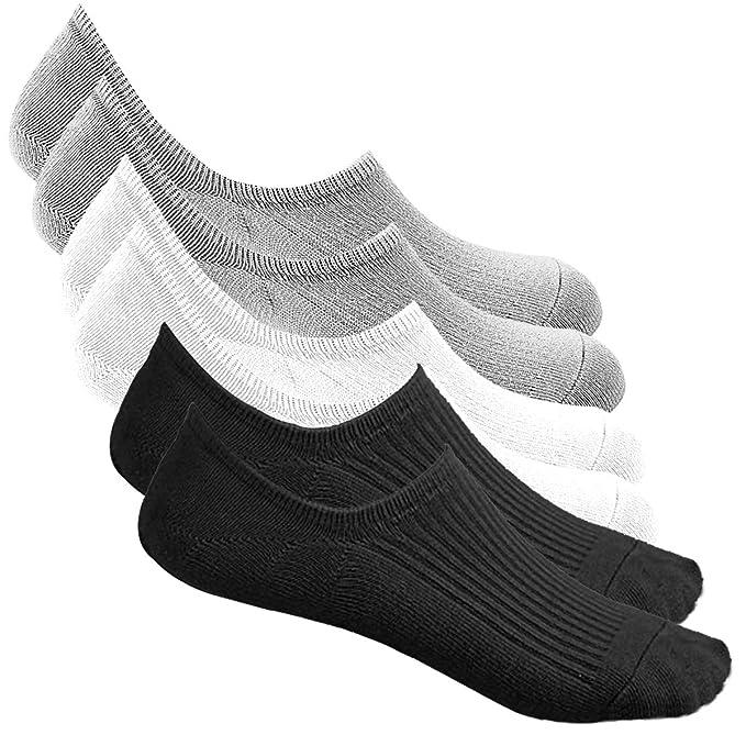 Bestele Calcetines Invisibles Hombre & Mujer, Algodón Transpirable Calcetines Cortos Elástco Con Silicona Antideslizante Calcetín