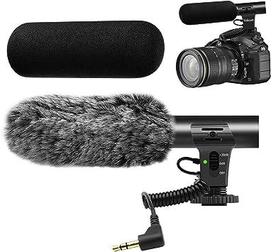 Veksun - Micrófono de cámara para cámara réflex digital de ...