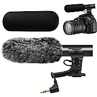 Camera Microphone,Veksun Video Microphone for DSLR Interview Shotgun Mic for Canon Nikon Sony Panasonic Fuji Videomic…