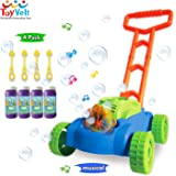 ToyVelt Bubble Lawn Mower for Kids - Automatic Bubble Machine with Music Sounds Best Toys for Toddlers Plus 4 x Bottles of Solution & 4 x Sticks - for Boys & Girls Ages 2-12 Years Old