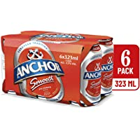 Anchor Smooth Pilsener Beer Can, 323ml (Pack of 6)