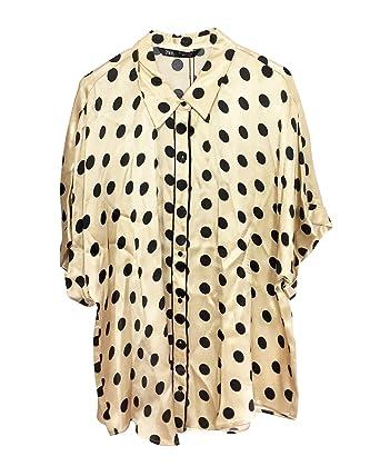 045f3b62ae Amazon.com: Zara Women Polka dot Pyjama Shirt 3067/007 Off-White ...
