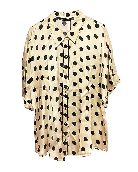 vasta selezione di 5f42b 48fc7 Zara Donna Camicia Stile Pigiama a Pois 3067/007: Amazon.it ...