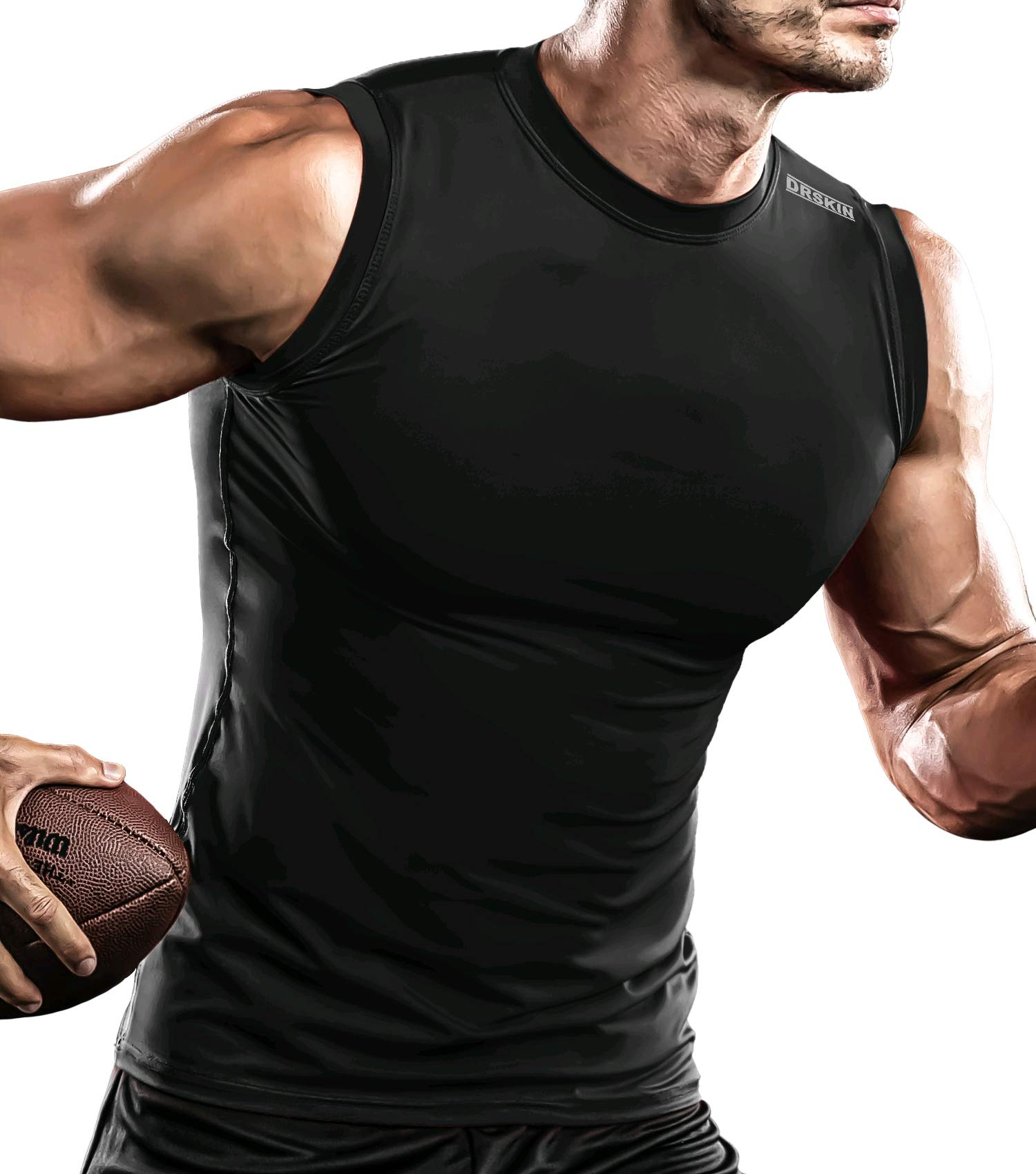 Boys Compression Tank Top Football Base Layer Moisture Wicking Athletic Sleeveless T-Shirt Vest 2 Pack