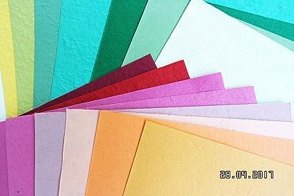 10 pcs A4 en papel grueso de Mulberry Scrapbooking papel cartulina ...