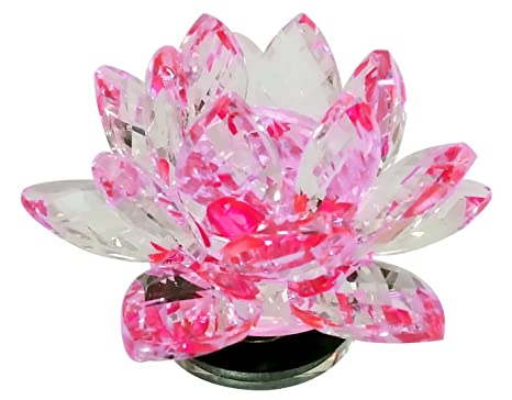 Buy Fun N Shop Light Reflecting Pink Crystal Lotus Flower With