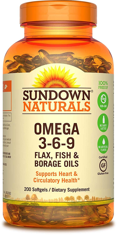 Rexall Sundown Naturals, Triple Omega 3-6-9, 200 Softgels B000PT5DZ8