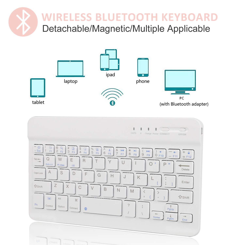 Keyboard Case for iPad Mini 5 - iPad Mini 4-7 Colors Backlit Detachable Keyboard - Magnetic Design - PU Leather - Soft Rubber Case - iPad Mini 5 Case with Keyboard (Rose Gold, Mini 5)