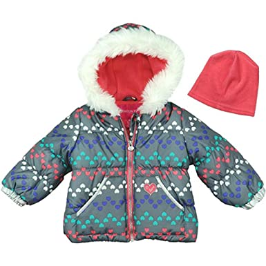 2a7f97b4f London Fog Baby Girls and Little Girls' Little Patches Puffer Jacket Coat,  Gray,