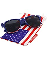 grinderPUNCH® American Flag Sunglasses Classic USA Large Adult Size UV400