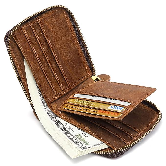 64ac0674084df Huztencor Geldbörse Herren Leder Portemonnaie Geldbeutel Portmonee Börse  Brieftasche Geldtasche für Männer Kreditkartenetui Kartenetui mit RFID  Schutz und ...