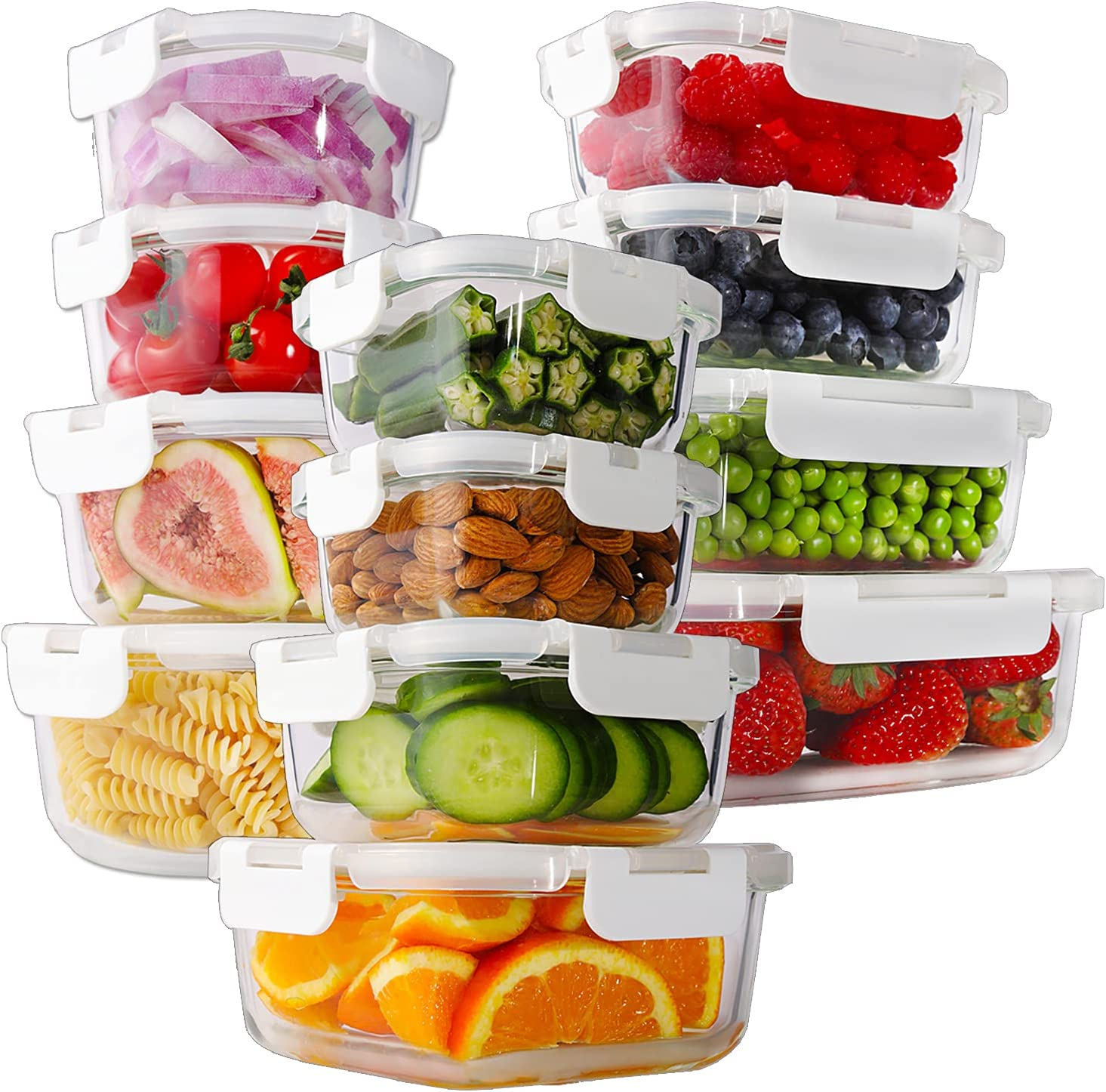 Bayco 24 Piece Glass Food Storage Containers $29.99 Coupon