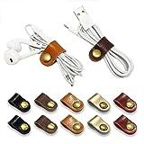 FIBOUND 10pcs Earphone Winder Leather Cable